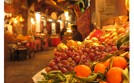 Image of a fruit market taken with the Canon PowerShot G1X compact camera