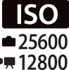 ISO 25600 Pictures, 12800 Movies