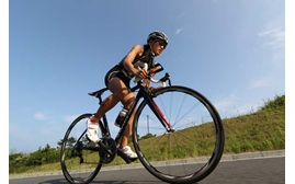 Image of a bike rider taken with the Canon EOS 7D Mark II digital SLR camera